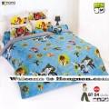 ชุดเครื่องนอน ผ้าห่มนวม ชุดผ้าปูที่นอนโตโต้ ลายการ์ตูนลิขสิทธิ์ เบ็นเท็น BEN10 BT04