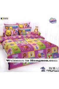 ชุดเครื่องนอน ผ้าห่มนวม ชุดผ้าปูที่นอนโตโต้ ลายการ์ตูนลิขสิทธิ์ คิวตี้ CU10