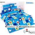 ชุดเครื่องนอน ผ้าห่มนวม ชุดผ้าปูที่นอนโตโต้ ลายการ์ตูนลิขสิทธิ์ โดราเอมอน DM031