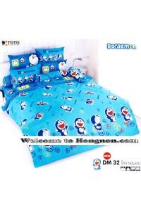 ชุดเครื่องนอน ผ้าห่มนวม ชุดผ้าปูที่นอนโตโต้ ลายการ์ตูนลิขสิทธิ์ โดราเอมอน DM032