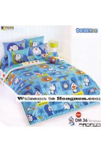 ชุดเครื่องนอน ผ้าห่มนวม ชุดผ้าปูที่นอนโตโต้ ลายการ์ตูนลิขสิทธิ์ โดราเอมอน DM36