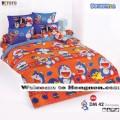 ชุดเครื่องนอน ผ้าห่มนวม ชุดผ้าปูที่นอนโตโต้ ลายการ์ตูนลิขสิทธิ์ โดราเอมอน DM42