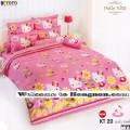 ชุดเครื่องนอน ผ้าห่มนวม ชุดผ้าปูที่นอนโตโต้ ลายการ์ตูนลิขสิทธิ์  คิตตี้ KT20