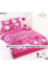 ชุดเครื่องนอน ผ้าห่มนวม ชุดผ้าปูที่นอนโตโต้ ลายการ์ตูนลิขสิทธิ์  คิตตี้ KT22