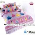 ชุดเครื่องนอน ผ้าห่มนวม ชุดผ้าปูที่นอนโตโต้ ลายการ์ตูนลิขสิทธิ์  เจ้าหญิง PC24