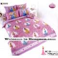 ชุดเครื่องนอน ผ้าห่มนวม ชุดผ้าปูที่นอนโตโต้ ลายการ์ตูนลิขสิทธิ์  เจ้าหญิง PC25