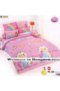 ชุดเครื่องนอน ผ้าห่มนวม ชุดผ้าปูที่นอนโตโต้ ลายการ์ตูนลิขสิทธิ์  เจ้าหญิง PC30