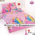 ชุดเครื่องนอน ผ้าห่มนวม ชุดผ้าปูที่นอนโตโต้ ลายการ์ตูนลิขสิทธิ์  เจ้าหญิง PC31