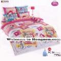 ชุดเครื่องนอน ผ้าห่มนวม ชุดผ้าปูที่นอนโตโต้ ลายการ์ตูนลิขสิทธิ์  เจ้าหญิง PC36