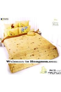 ชุดเครื่องนอน ผ้าห่มนวม ชุดผ้าปูที่นอนโตโต้ ลายการ์ตูนลิขสิทธิ์ หมีพูห์ PH15