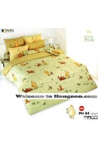 ชุดเครื่องนอน ผ้าห่มนวม ชุดผ้าปูที่นอนโตโต้ ลายการ์ตูนลิขสิทธิ์ หมีพูห์ PH44