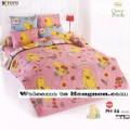 ชุดเครื่องนอน ผ้าห่มนวม ชุดผ้าปูที่นอนโตโต้ ลายการ์ตูนลิขสิทธิ์ หมีพูห์ PH46