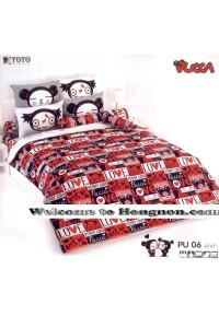 ชุดเครื่องนอน ผ้าห่มนวม ชุดผ้าปูที่นอนโตโต้ ลายการ์ตูนลิขสิทธิ์ พุ๊กค๊า PU06