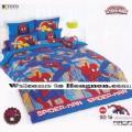 ชุดเครื่องนอน ผ้าห่มนวม ชุดผ้าปูที่นอนโตโต้ ลายการ์ตูนลิขสิทธิ์  สไปเดอร์แมน SD16