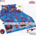 ชุดเครื่องนอน ผ้าห่มนวม ชุดผ้าปูที่นอนโตโต้ ลายการ์ตูนลิขสิทธิ์  สไปเดอร์แมน SD17