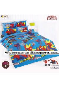 ชุดเครื่องนอน ผ้าห่มนวม ชุดผ้าปูที่นอนโตโต้ ลายการ์ตูนลิขสิทธิ์  สไปเดอร์แมน SD18