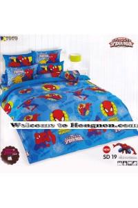 ชุดเครื่องนอน ผ้าห่มนวม ชุดผ้าปูที่นอนโตโต้ ลายการ์ตูนลิขสิทธิ์  สไปเดอร์แมน SD19