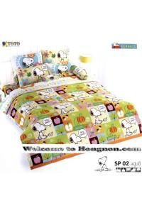 ชุดเครื่องนอน ผ้าห่มนวม ชุดผ้าปูที่นอนโตโต้ ลายการ์ตูนลิขสิทธิ์ สนู๊ปปี้ SP02