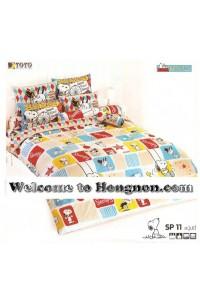 ชุดเครื่องนอน ผ้าห่มนวม ชุดผ้าปูที่นอนโตโต้ ลายการ์ตูนลิขสิทธิ์ สนู๊ปปี้ SP011