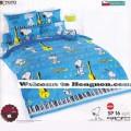 ชุดเครื่องนอน ผ้าห่มนวม ชุดผ้าปูที่นอนโตโต้ ลายการ์ตูนลิขสิทธิ์ สนู๊ปปี้ SP16