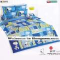 ชุดเครื่องนอน ผ้าห่มนวม ชุดผ้าปูที่นอนโตโต้ ลายการ์ตูนลิขสิทธิ์ สนู๊ปปี้ SP17